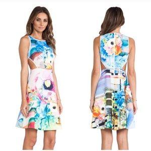 Clover Canyon fit & flare dress w/ cutouts medium